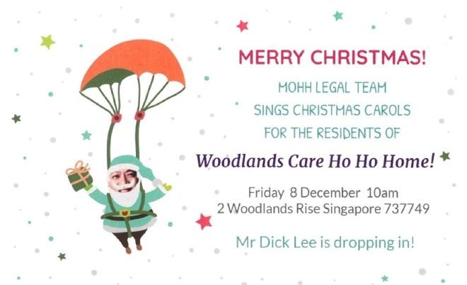 Woodlands Caroling Invite 8Dec2017